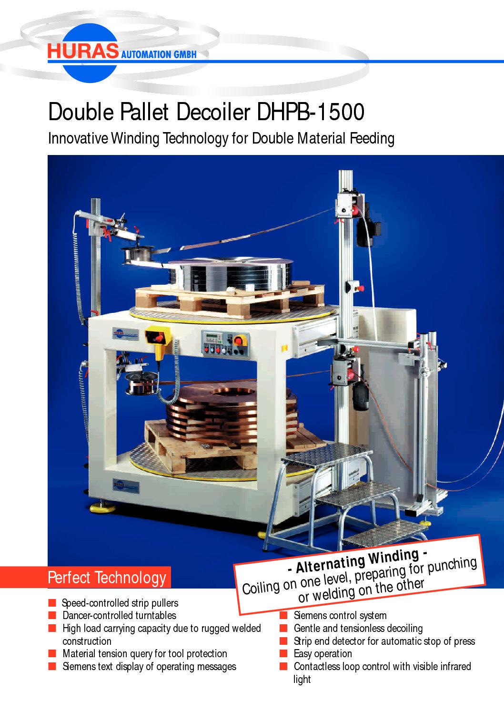 Double Pallet Decoiler DHPB-1500