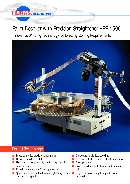 Pallet Decoiler with Precision Straightener HPR-1500
