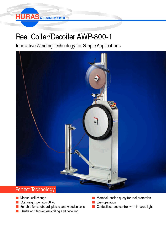 Reel CoilerDecoiler AWP-800-1